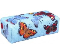 Blue Butterfly Tapestry Doorstop - DSBC