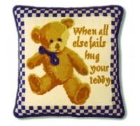 Blue Check Teddy Tapestry - CBT