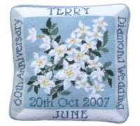 Diamond Wedding Anniversary Tapestry Cushion - DW