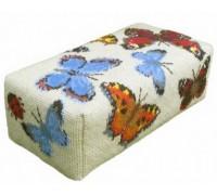 Ecru Butterfly Tapestry Doorstop - DSEC