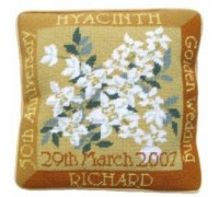 Golden Wedding Anniversary Tapestry Cushion - GW