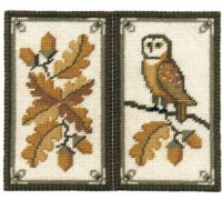 Owl and Acorns Spectacle Case - SCO