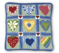 Patchwork Hearts Tapestry - CHS