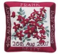 Ruby Wedding Anniversary Tapestry Cushion - RW
