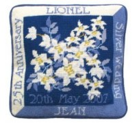 Silver Wedding Anniversary Tapestry Cushion - SW