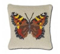 Tortoiseshell Butterfly Tapestry Pincushion - MTL
